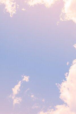 Fototapeta Niebo z pastelowych kolorowe gradientu