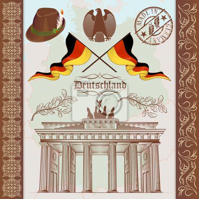 Niemiecki Vintage Set Symbole