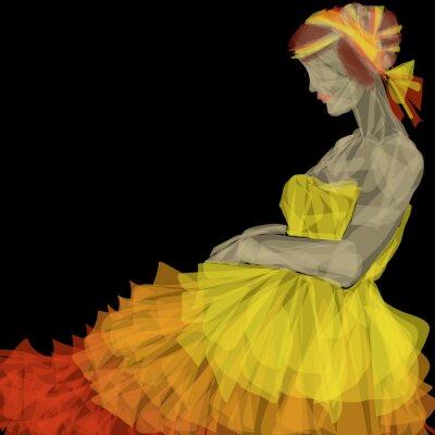 Fototapeta niesamowita postać kobiety w geometrycznych kształtach