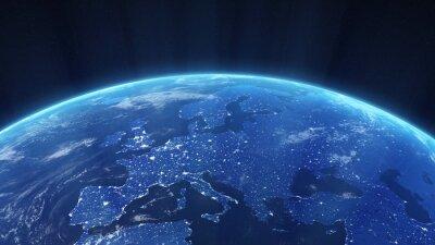 Fototapeta Nocny widok z Europy