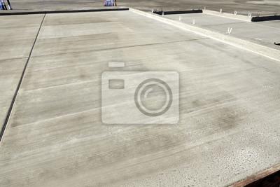 Fototapeta Nowa budowa domu beton płyty