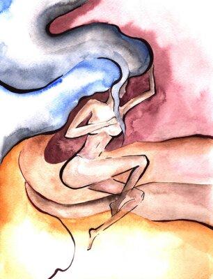 Fototapeta Nowoczesna grafika z erotycznej kobiecej