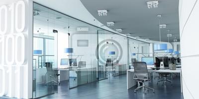 Fototapeta Nowoczesne biuro niebieskie