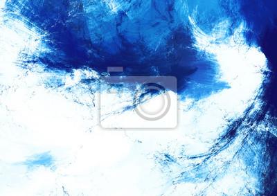 Nowoczesne malowane chmury. Streszczenie futurystyczny niebieski i biały teksturę z efektem akwarela dla tapety, wnętrze, album, okładka ulotki, plakat, broszura. Fractal tle dla kreatywnego projektow