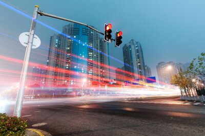 Fototapeta nowoczesne miasto w nocy