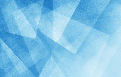Fototapeta nowoczesne streszczenie niebieskim tle projektu warstw teksturą białym przezroczystego materiału w trójkącie diamentu i placów kształtuje się w losowej geometryczny wzór