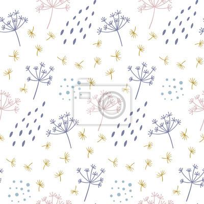 Nowoczesny kwiatowy wzór z streszczenie kropek i kształtów. Dobry do drukowania. Tapeta wektor.