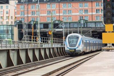 Fototapeta Nowoczesny pociąg w Szwecji