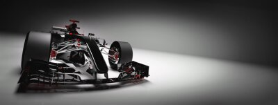 Fototapeta Nowoczesny samochód F1 na jasnym tle.