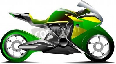 Fototapeta Nowoczesny sportowy motocykl Vector