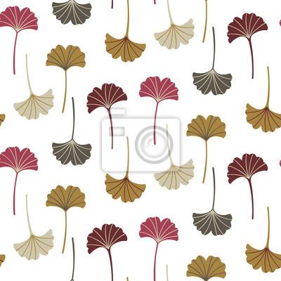 Nowoczesny wzór z liści ginkgo. Jesienią tła. Dobry do drukowania. Tapeta wektor.