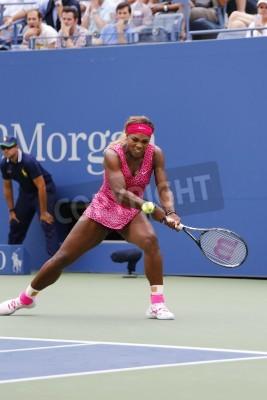 Fototapeta NOWOŚĆ York- 30 sierpnia: Grand Slam mistrz Serena Williams w trzecim meczu rundy US Open 2014 w stosunku Varvara Lepchenko na Billie Jean King Narodowego Tennis Center w dniu 30 sierpnia 2014 roku w
