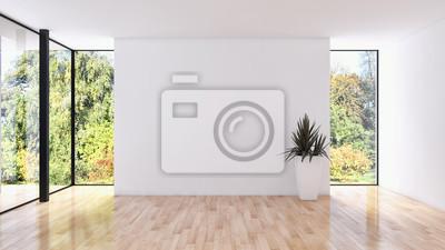 Fototapeta Nowożytni jaskrawi wnętrze mieszkania 3D renderingu ilustracja