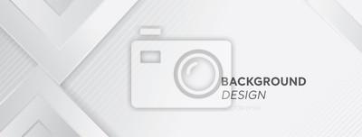 Fototapeta Nowożytny biały szary abstrakcjonistyczny sieć sztandaru tła kreatywnie projekt