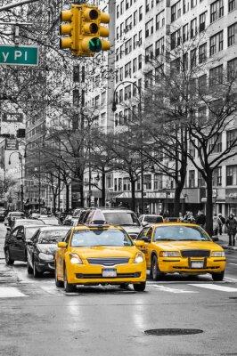 Fototapeta Nowy Jork kabiny yellow taxi
