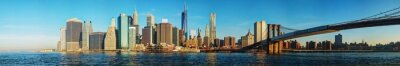 Fototapeta Nowy Jork pejzaż z Brooklyn Bridge