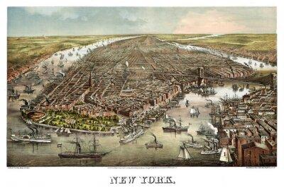 Fototapeta Nowy Jork starych fotografii. Przez Ferd Mayer & Sons. Publ. Geo. Degen, Nowy Jork, 1873