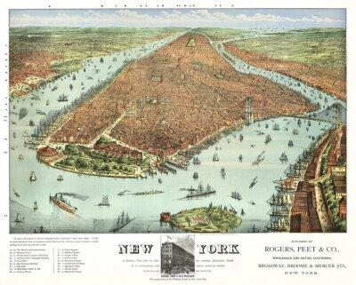 Fototapeta Nowy Jork starych fotografii. Przez Rogers, Peet & Co .. Currier & Yves, Nowy Jork, 1879