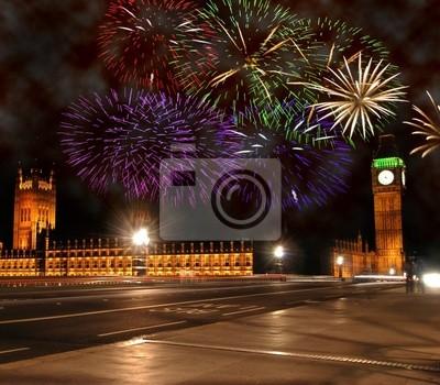 Fototapeta Nowy Rok w Londynie