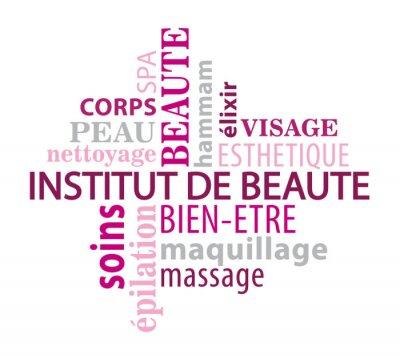 Fototapeta Nuage de mot thème Institut de Beauté