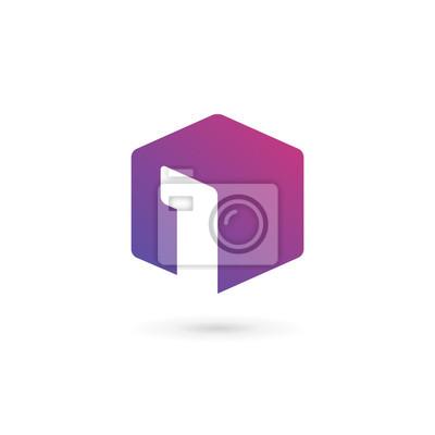 Fototapeta Number One 1 kostka elementy ikona logo szablon projektu