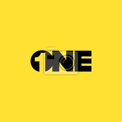 Fototapeta Numer dwa negatywne miejsca Koncepcja logo