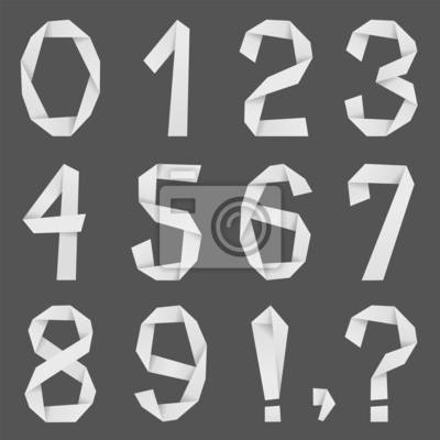 Numery wykonane z papieru