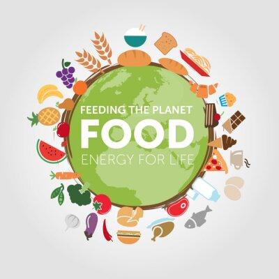 Fototapeta Nutrire il pianeta