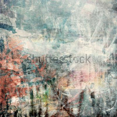 Fototapeta Obejmuje grunge tło, porysowana tekstura