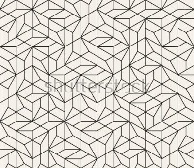 Fototapeta Objęty wzorem wzoru. Nowoczesny stylowy streszczenie tekstura. Powtarzanie płytek geometrycznych z elementami w paski