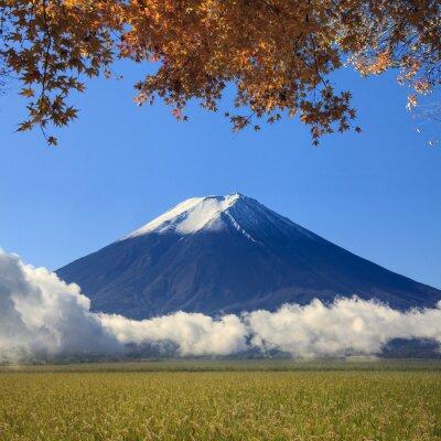 Fototapeta Obraz Świętej Góry Fuji w tle w Japonii