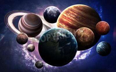 Fototapeta obrazy wysokiej rozdzielczości prezentuje planety Układu Słonecznego.
