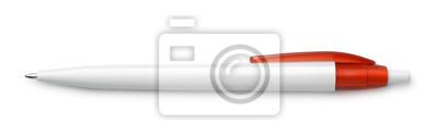 Fototapeta Odgórny widok pusty biały pióro