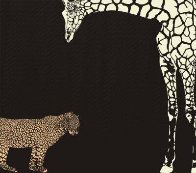 Fototapeta Odwrotna i żyrafa kamuflaż lampart