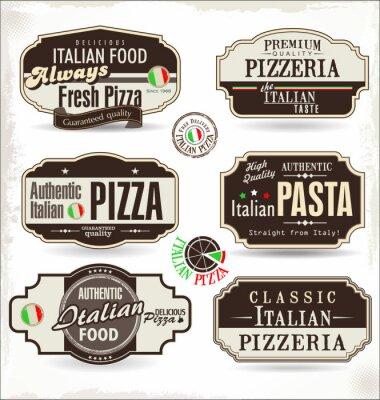 Fototapeta Odznaki i etykiety Pizza