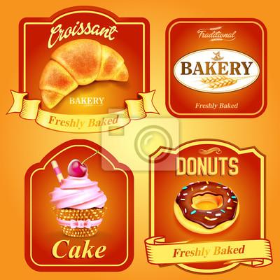 odznaki i naklejki dla żywności piekarni