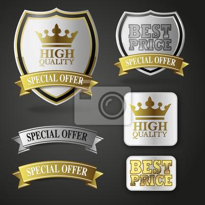 odznaki wysokiej jakości złota