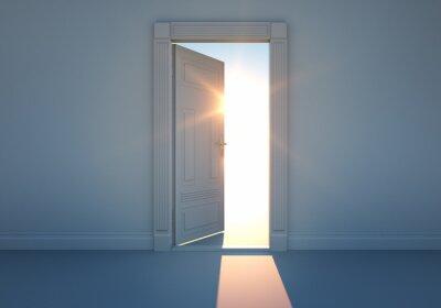 Fototapeta Offene Tür mit Sonnenlicht