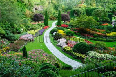 Fototapeta ogród butchart na wiosnę, wiktoria, kolumbia brytyjska, kanada
