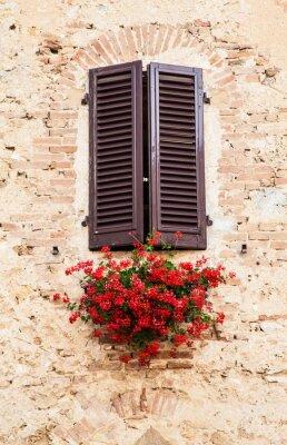Fototapeta Okna w Toskanii
