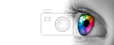 Fototapeta Oko Z Tęczowymi Kolorami