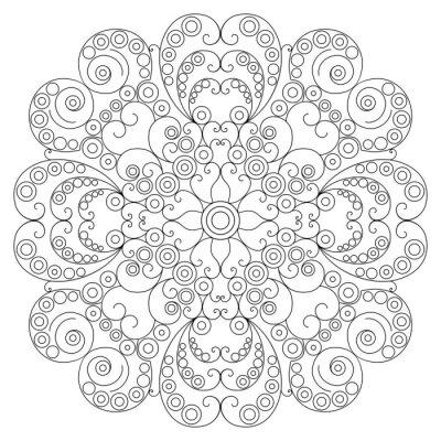 Fototapeta Okrągły etnicznych wzór