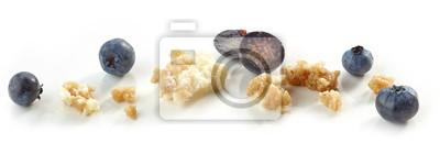 Fototapeta Okruchy ciasta z jagodami