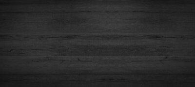 Fototapeta Old black gray grey anthracite rustic dark grunge wooden timber texture - wood background banner
