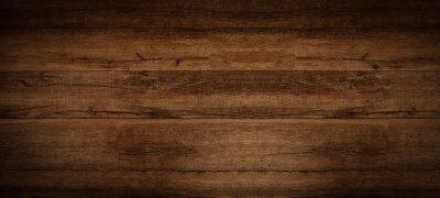 Fototapeta Old brown rustic dark grunge wooden timber texture - wood background banner.