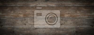 Fototapeta old brown rustic dark weathered wooden texture - wood background panorama banner long