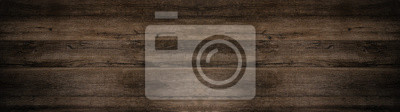 Fototapeta old brown rustic dark wooden texture - wood background panorama long banner
