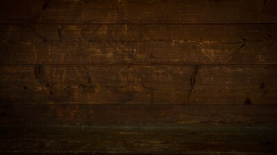 Fototapeta old brown rustic dark wooden texture - wood timber background