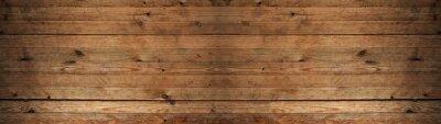 Fototapeta old brown rustic dark wooden texture - wood timber background panorama long banner