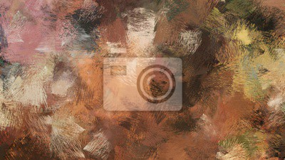 Fototapeta old brush strokes background with pastel brown, brown and very dark green colors. graphic can be used for wallpaper, cards, poster or creative fasion design elements